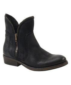 Love this Black Turn Out Suede Ankle Boot by Bronx on #zulily! #zulilyfinds