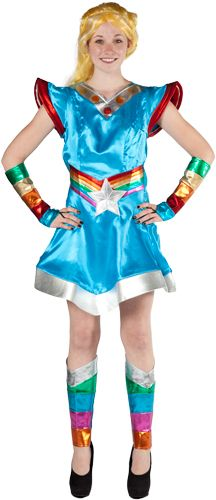 Rainbow Brite Costume for color/glow run... I need to figure out how to make this running friendly. pronto