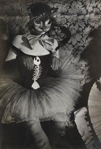 Woman with cat mask, Brassai