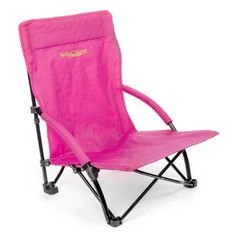 Lucky S Low Profile Folding Sling Beach Chair Pink Large