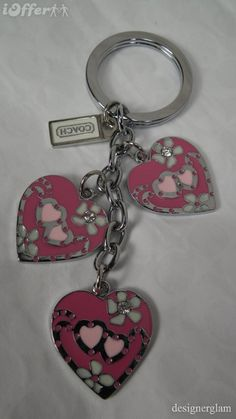 new-cute-coach-pink-heart-charms-keyring-keychain-8d59.JPG (580×1031)