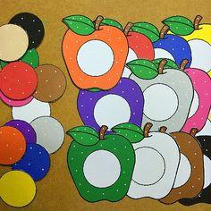 Apple color match for preschool and kindergarten