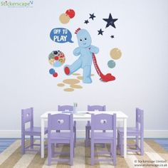 Igglepiggle Off to play wall sticker