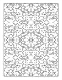Coloring Page Pattern by MyColorCloud on Etsy