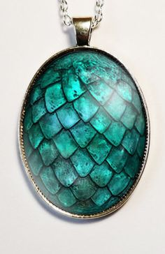Turquoise Dragon Egg Pendant