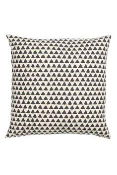 Kussenhoes met dessin - Gebroken wit/antracietgrijs - HOME   H&M NL