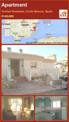 Apartment for Sale in Ciudad Quesada, Costa Blanca, Spain - A Spanish Life Valencia, Victoria Apartments, External Staircase, Portugal, Fitted Bathroom, Small Hallways, Sliding Patio Doors, Furnished Apartment, Murcia
