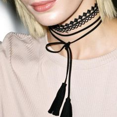 Fashion jewelry cool cloth Lace Tattoo choker and black terciopelo leather choker DIY necklace gift for women girl  N1911
