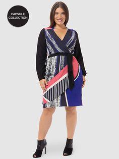Bella Faux-Wrap Dress