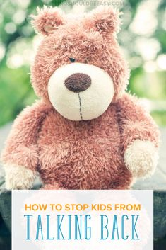 Are you embarrassed with the way your child talks back to you? Figuring out what to do when kids don't listen can be tough. Here's how to stop your kids from talking back.