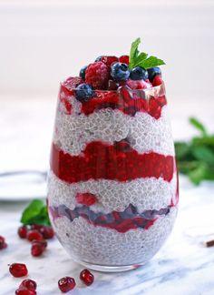 Chia pudding with raspberry compote - Choosingchia