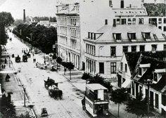 Amagerbrogade udfor Brysselsgade 1840. Københavns Museum