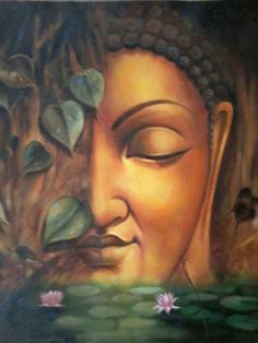 Buda Painting, Dot Art Painting, Indian Art Paintings, Modern Art Paintings, Budha Art, Buddha Drawing, Buddha Canvas, Ganesha Painting, Indian Folk Art