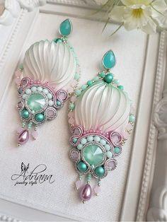 Alabaster pastel shibori earrings
