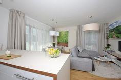 kitchen, flat, living room
