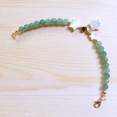 """The product """"Day Dream"""" MOP Aventurine Bracelet is sold by That Stone Store_Handmade Gemstone Jewelry in our Tictail store.  Tictail lets you create a beautiful online store for free - tictail.com"""