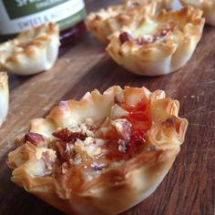Mini Phyllo Pepper Jelly Pasties