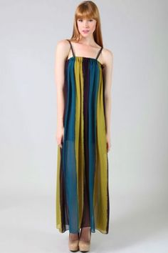 Floaty and ethereal, our new maxi dress features sexy straps and a adorable colorblock design! It is a perfect maxi dress for a chic, modern look for women.