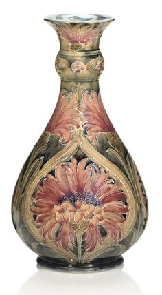 WILLIAM MOORCROFT - 'BROWN CHRYSANTHEMUM', VASE, 1910-1913