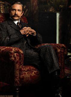 "Martin Freeman as John Watson - Sherlock Christmas Special ""The Abominable Bride"""