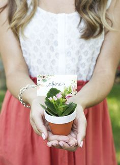 Potted Plant Place Card DIY