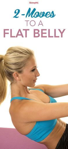 2 Moves to A Flat Belly - #flatbelly #skinnyms