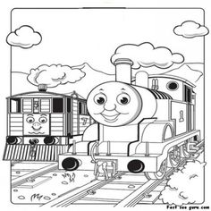 print out pictures of toby the tram engine thomas the train and friends coloring pages for - Thomas And Friends Coloring Pages