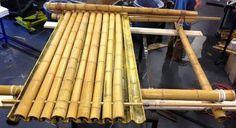 Telhado bambu detalhe