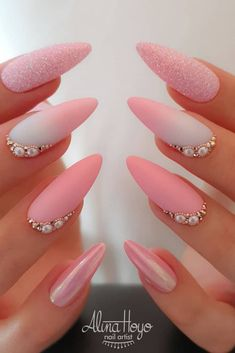 40 beautiful nail art designs 2019 you need to try to develop your creative and elegant side . - 40 beautiful nail art designs 2019 you need to try to discover your creative and elegant side – n - Beautiful Nail Art, Gorgeous Nails, Pretty Nails, Love Nails, Nail Art Halloween, Holiday Nail Art, Pink Nail Designs, Winter Nail Designs, Pink Acrylic Nails