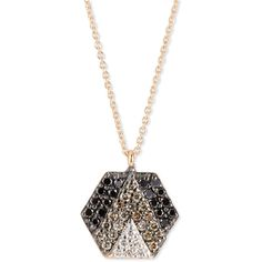 Kismet by Milka Sheriff Star 14K Rose Gold & Ombre Diamond Hexagon... (3,990 ILS) ❤ liked on Polyvore featuring jewelry, necklaces, diamond jewelry, pendant necklace, rose gold pendant, diamond pendant and 14k diamond pendant