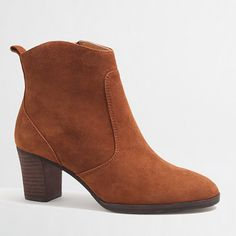 J Crew Factory Quinn Suede Ankle Booties Suede Ankle Boots, Ankle Booties, J Crew Style, My Style, Wish Gifts, Discount Mens Clothing, Autumn Winter Fashion, Winter Style, Fall Fashion