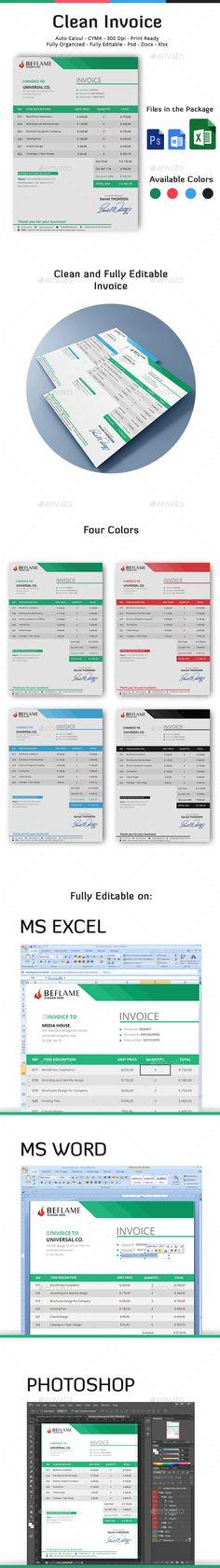 Very Nice Invoice Design  By Orianart  Beautiful Invoices  Ci