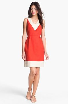 kate spade new york 'james' cotton blend sheath dress available at #Nordstrom-- color block for the rehearsal dinner?