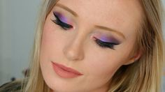 Bright purple look using the Urban Decay Shadow Box palette