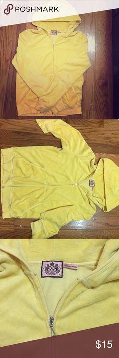 Juicy zip up Terry cloth juicy couture zip up hoodie in limoncello Juicy Couture Tops Sweatshirts & Hoodies