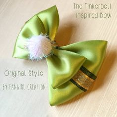 The Tinkerbell Inspired Bow by FangirlCreation on Etsy