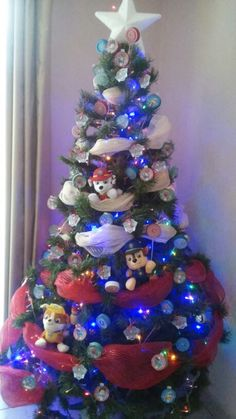 Paw patrol christmas tree                                                                                                                                                                                 Más