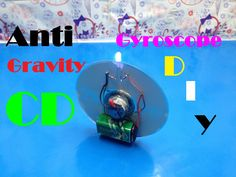 How To Make Anti Gravity CD Wheel - DIY Gyroscope