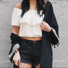 Free People Stark Black Cutoff Shorts size 27 Free People Stark Black Cutoff Shorts size 27 waist lay flat 16 rise 8 ❌ sorry no trades - price is firm even if bundled ❌ Free People Shorts
