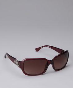 Look what I found on #zulily! Diane von Furstenberg Berry Emblem Sunglasses by Diane von Furstenberg #zulilyfinds