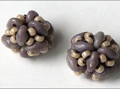 Handmade DIY - Superduo beaded bead ~ Seed Bead Tutorials