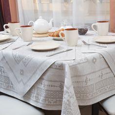 Linen Jacquard Tablecloth