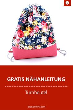 Tutorial gym bag with KeepMe by Albstoffe- Tutorial Turnbeutel mit KeepMe von Albstoffe Free sewing instructions: sew gymnastic bag Diy Handwarmers, Sewing Hacks, Sewing Tutorials, Sewing Tips, Leftover Fabric, Sewing Projects For Beginners, Free Sewing, Fabric Scraps, Gift Bags