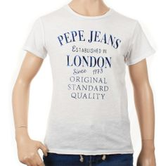 T-SHIRT PEPE JEANS JUNIOR,  T-Shirt per bambini e ragazzi di Pepe Jeans Junior di colore bianco, maniche corte, girocollo, stampa frontale, logo. http://www.abbigliamento-bambini.eu/compra/t-shirt-boy-pepe-jeans-2565749