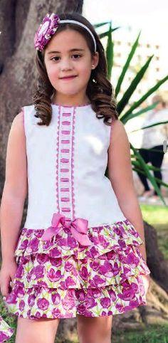 Primavera-verano Little Dresses, Little Girl Dresses, Cute Dresses, Girls Dresses, Kids Frocks, Frocks For Girls, African Fashion, Kids Fashion, Frock Design