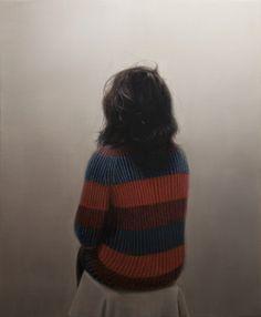 """Saatchi Art Artist Daniel Gonzalez Coves; Painting, """"Back Portrait no.1"""" #art -- sense of disconnection, loneliness."""