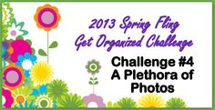 Challenge #4 - A Plethora of Pictures.   Time to get out from under those piles of pictures, both printed and digital.  In this challenge Tiffany Spaulding will take you through the process of sorting and organizing all of your photographs.  It's time to Tiffanize your Photos!!