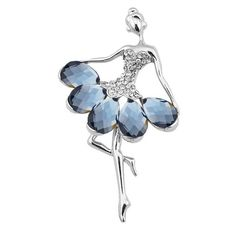 Sparkly Rhinestone Faux Gem Fairy Brooch Blue (€3,74) ❤ liked on Polyvore featuring jewelry, brooches, gemstone jewelry, rhinestone broach, blue gemstone jewelry, rhinestone jewelry and blue rhinestone jewelry