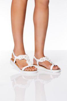 399590633ce Mejores 14 imágenes de Sandalias Blancas en Pinterest