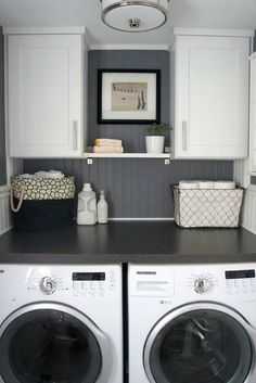 Add a washer & dryer to walk in closet